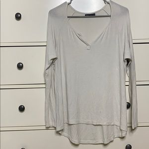 Brandy Melville one size white long sleeve.